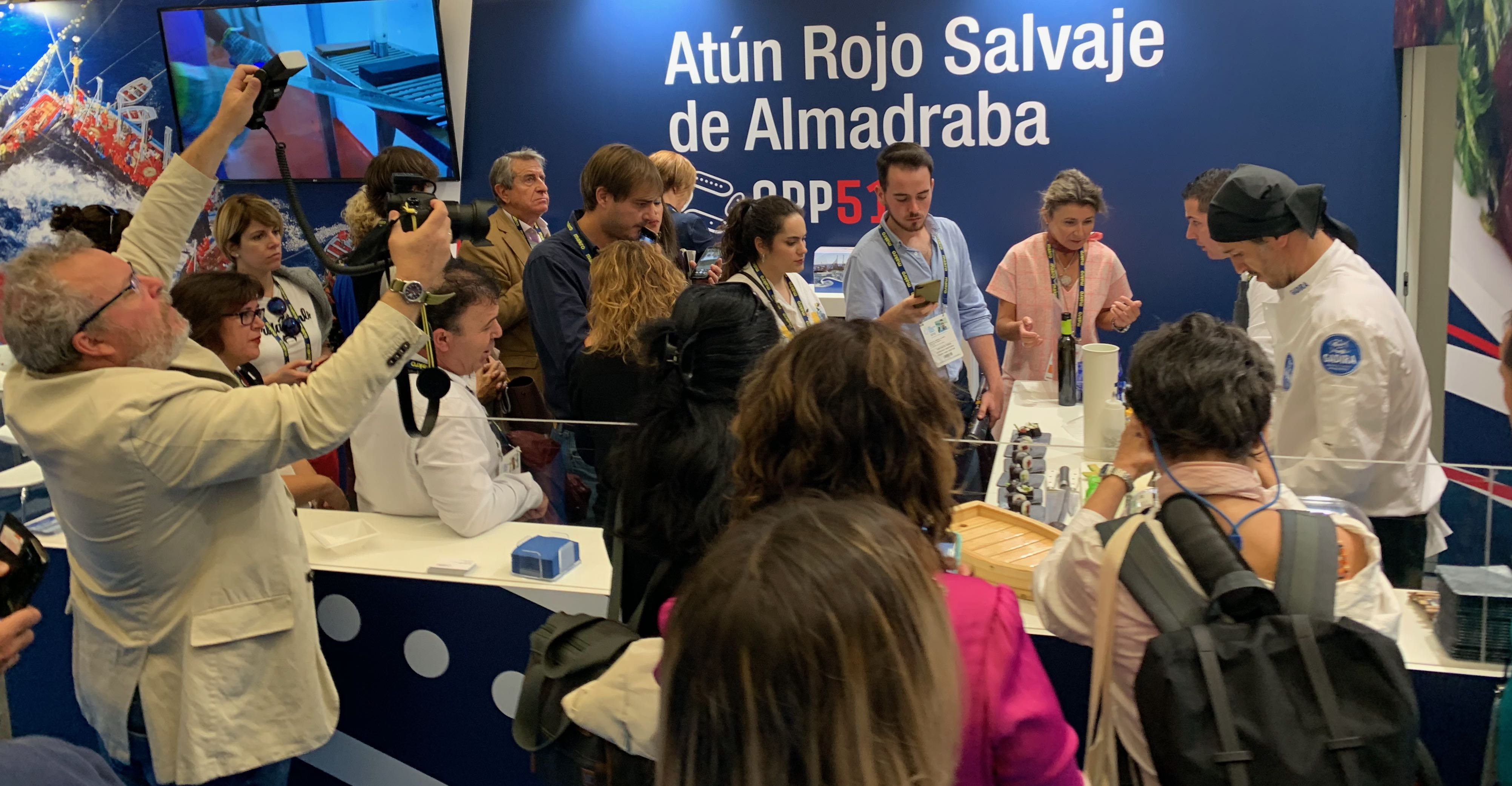 Zona degustación Gadira en Gastronomika 2019