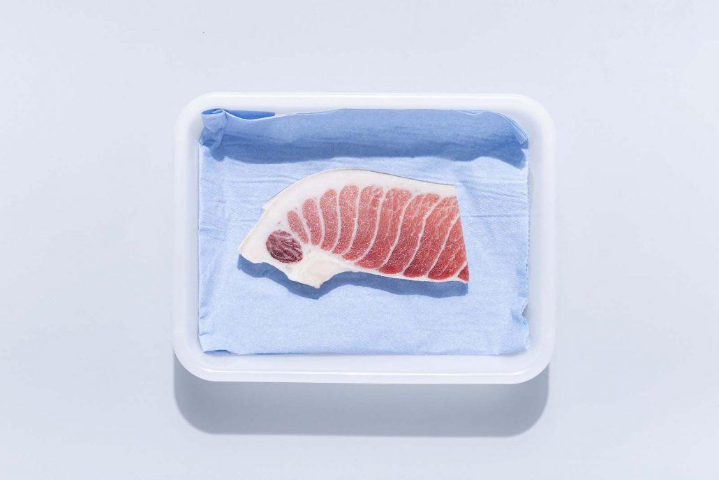 Filete de ventresca de atún rojo descongelado