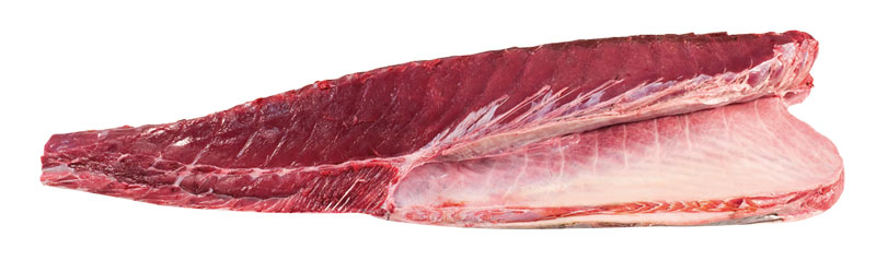 Lomo blanco de atún rojo salvaje de almadraba